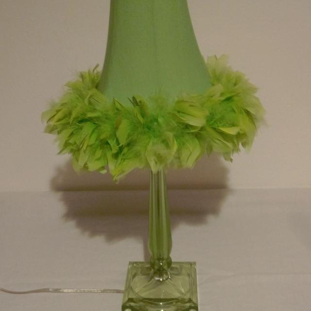 Best lime green table lamp with feather trim for sale in appleton lime green table lamp with feather trim mozeypictures Image collections