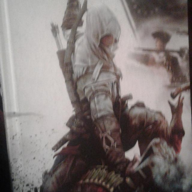 in's creed 3 book w/map on