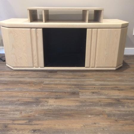 Washed Oak Entertainment Center for sale  Canada