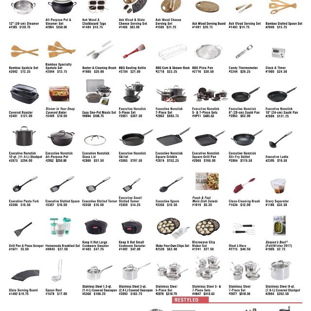 Pampered Chef Discontinued List