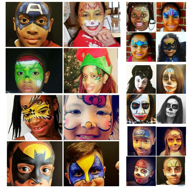 Best Face Painting Balloon Twisting Glitter Tattoos For Sale In