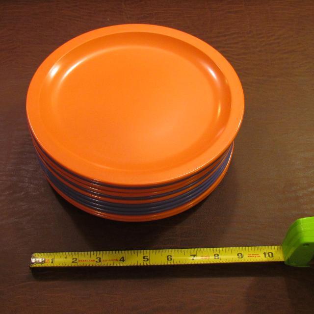Best Set Of 12 Hard Plastic Plates 9-3/4\