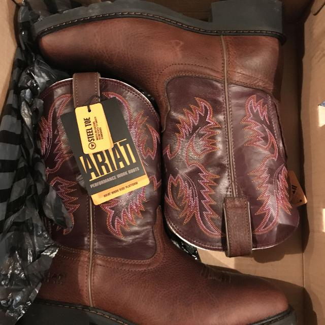 ab662340269 Women s Ariat steel toe cowboy boots leather work shoes 9.5 - BRAND NEW!