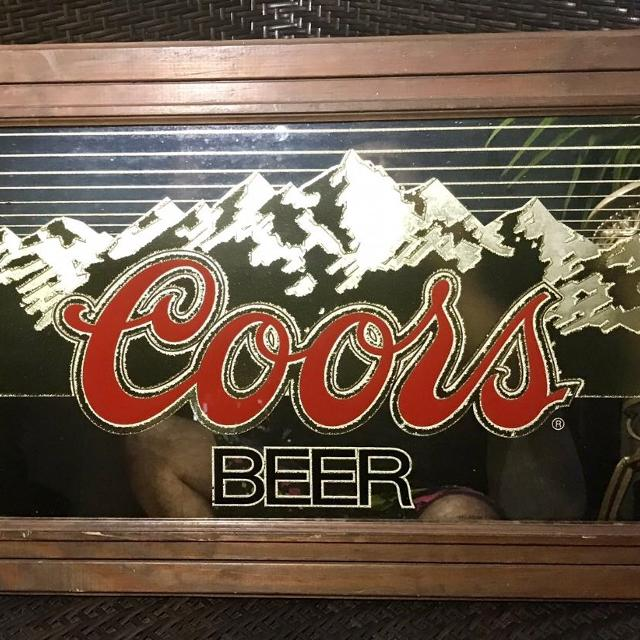 Best coors light mirrored bar pub sign in wooden frame best offer coors light mirrored bar pub sign in wooden frame best offer aloadofball Image collections