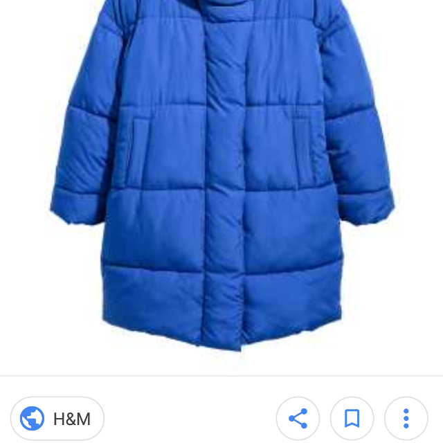 new specials search for original clients first H&M Blue Puffer Coat