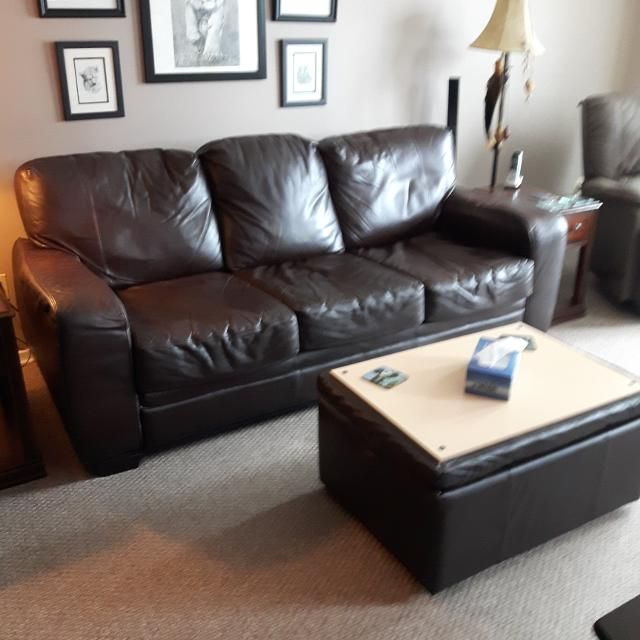 Best Rawhide Leather Sofa And 0ttoman With Storage For In Hanover Ontario 2019