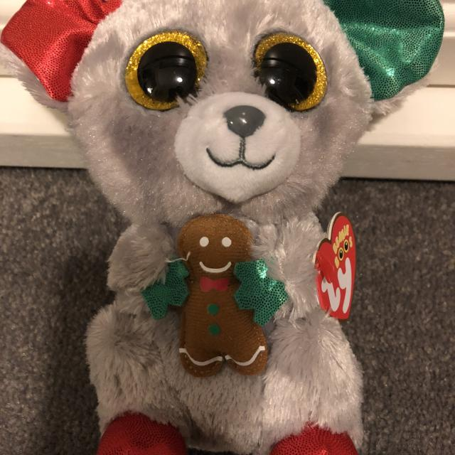 805e3f5036d Find more Ty Beanie Boo Plush - Mac The Mouse (christmas Exclusive ...