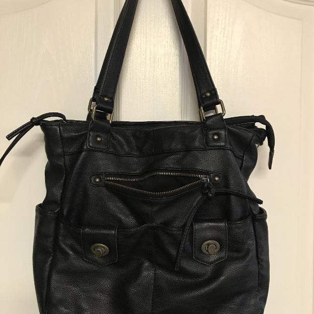 Hurley Black Leather Awesome Purse