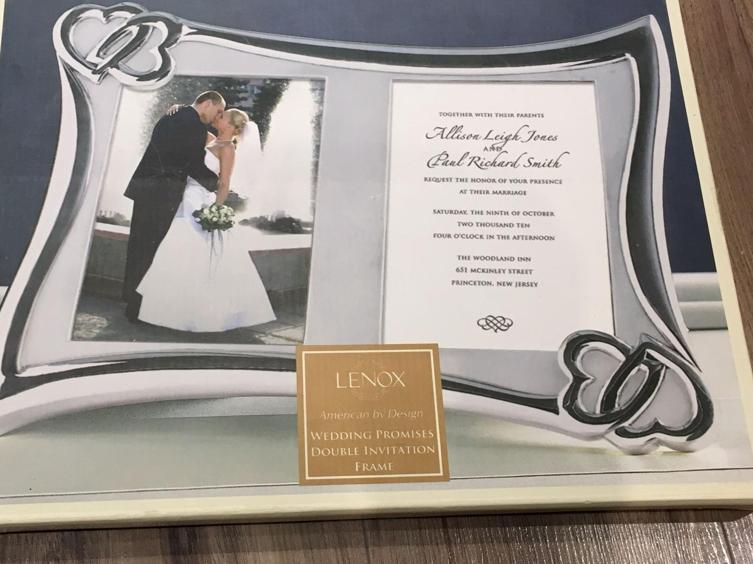 Find more New In Box!!! Beautiful Lenox Wedding Promises Double ...
