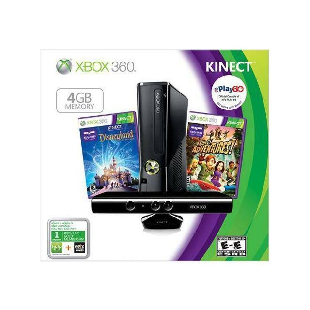 Xbox 360 with Kinect 4gb holiday bundle + games