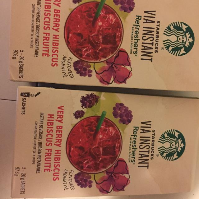 Find More Starbucks Via Instant Refreshers Very Berry Hibiscus