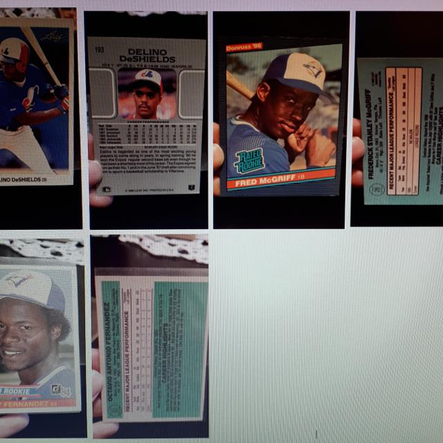 1980s1990s Baseball Cards In Protectors For Sale