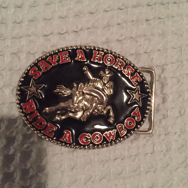 8e27b6416b03d Find more Save A Horse Ride A Cowboy Belt Buckle for sale at up to ...