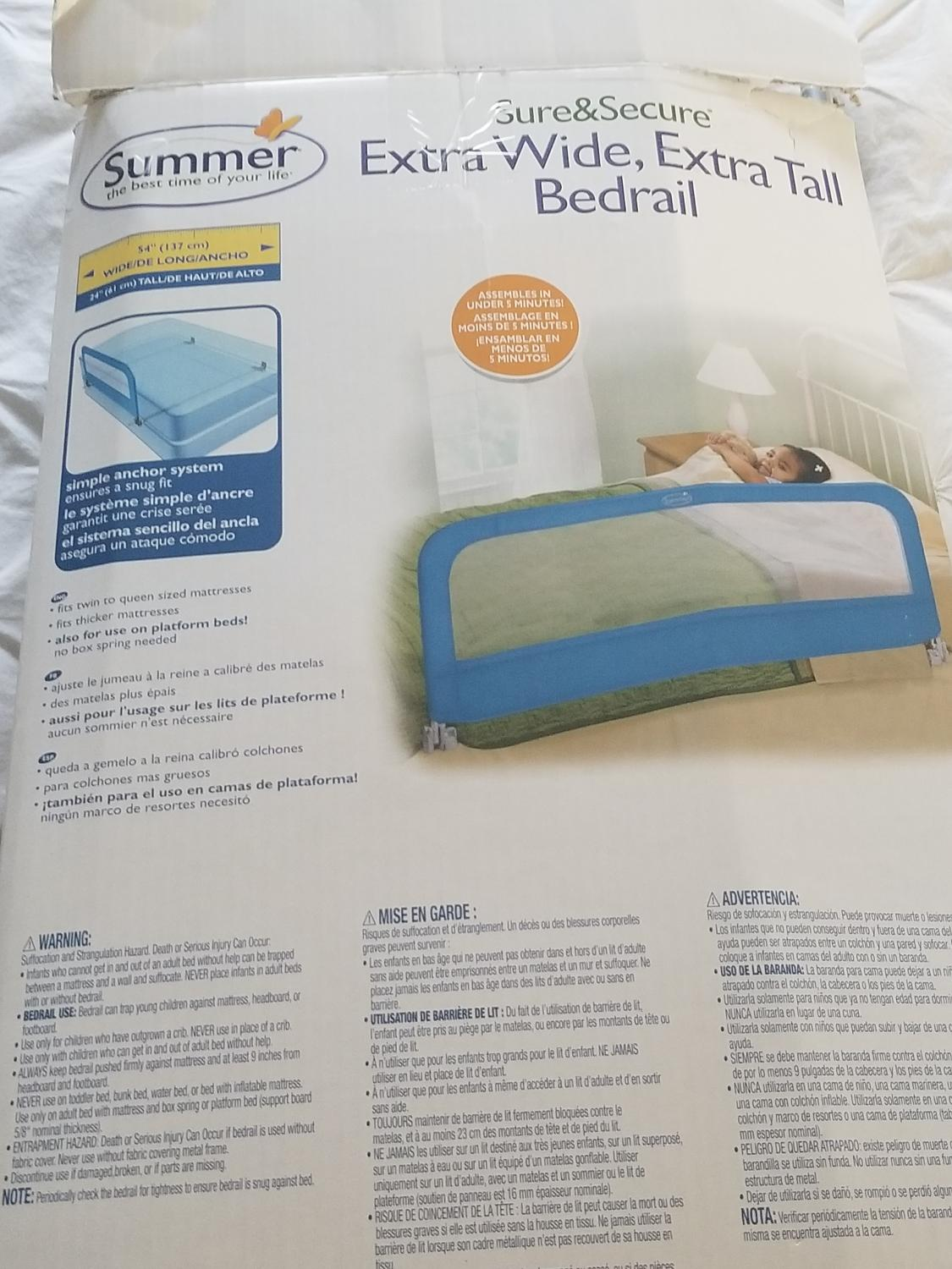Find More Summer Sure Secure Bed Rail Vguc Euc For Sale At Up To