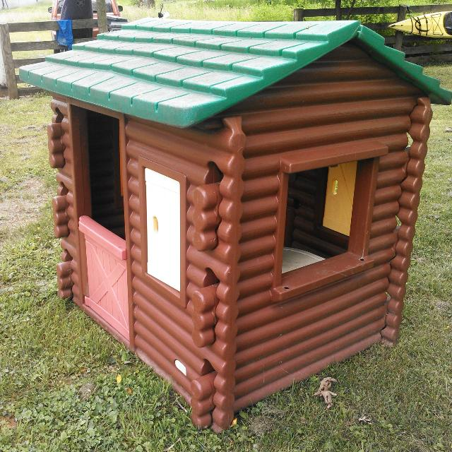 Best Log Cabin Little Tikes Playhouse With Shutters And Table For