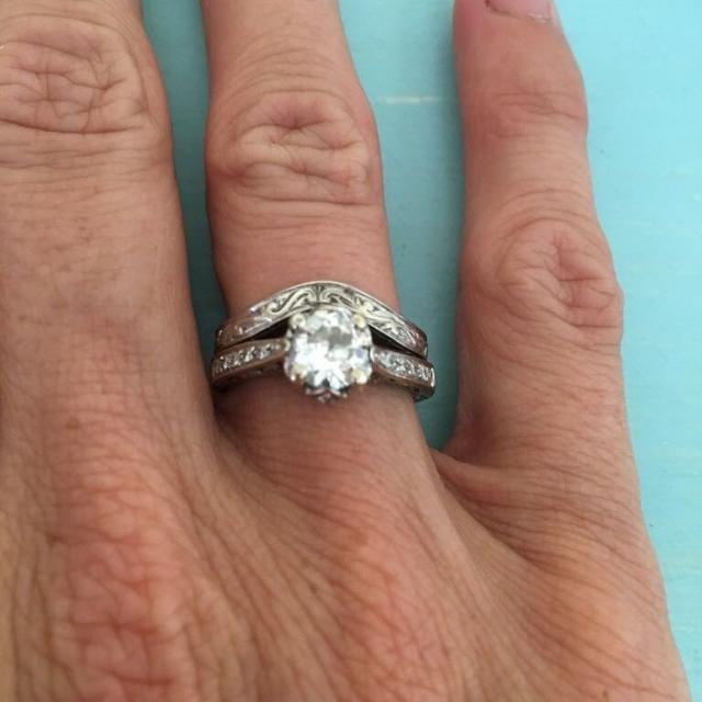 Estate Wedding Ring Set 1 10ct