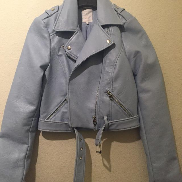 8f0264eab Zara sky blue riders jacket