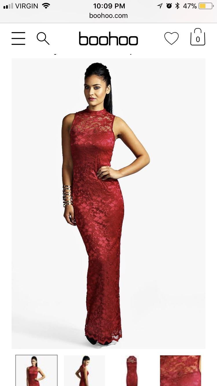 aaf449c3c8f Red Lace Maxi Prom Dress - raveitsafe