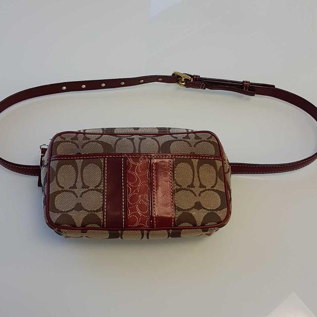 Coach Monogram Canvas Belt Bag