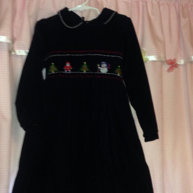 Rare Editions Christmas Dresses.Rare Editions Smocked Christmas Dress Euc