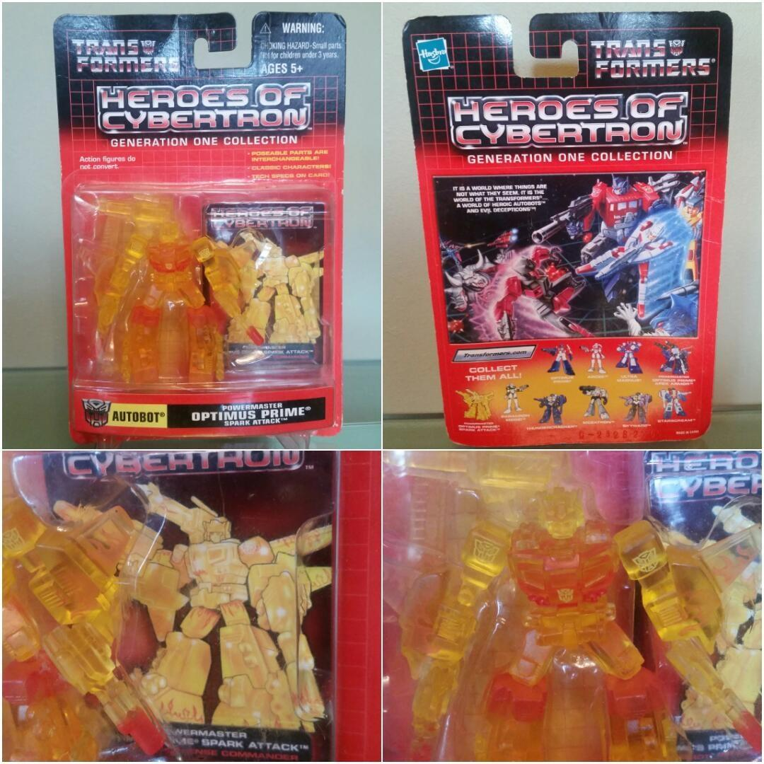 2001 Heroes of Cybertron Optimus Prime Spark attack - Generation One  collection - Brand New in blister pack