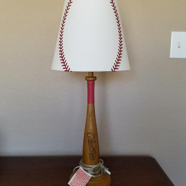 pottery barn baseball lamp - Baseball Lamp