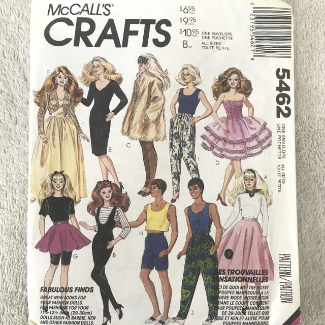 Best Vintage 1991 Butterick Barbie Clothes Sewing Pattern For Sale