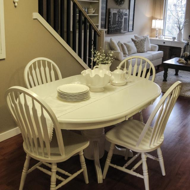 Country White Dining Table: Find More Lovely White Country Dining Table & 6 Chairs For