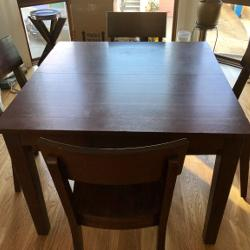 World Market Dining Table With Leaf 4 Chairs