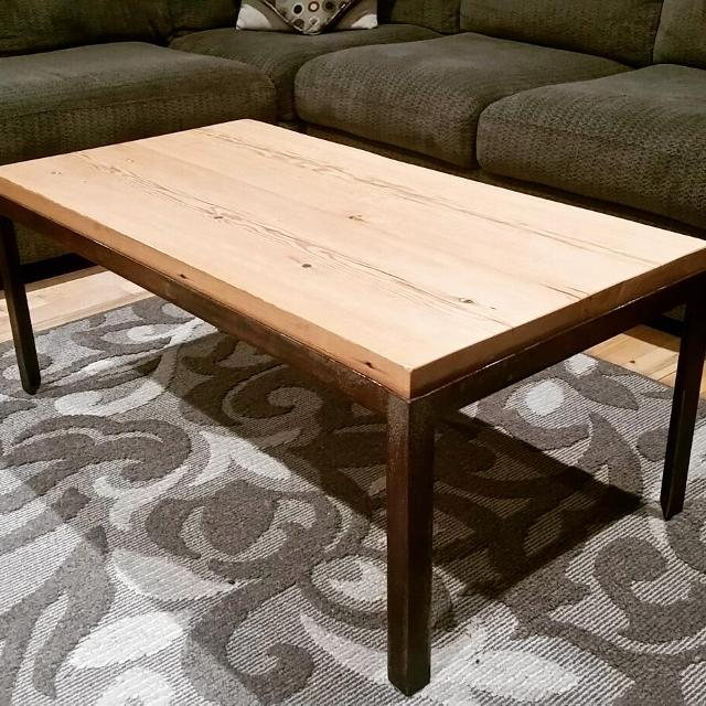 Best Reclaimed Old Growth Fir Industrial Coffee Table For Sale In