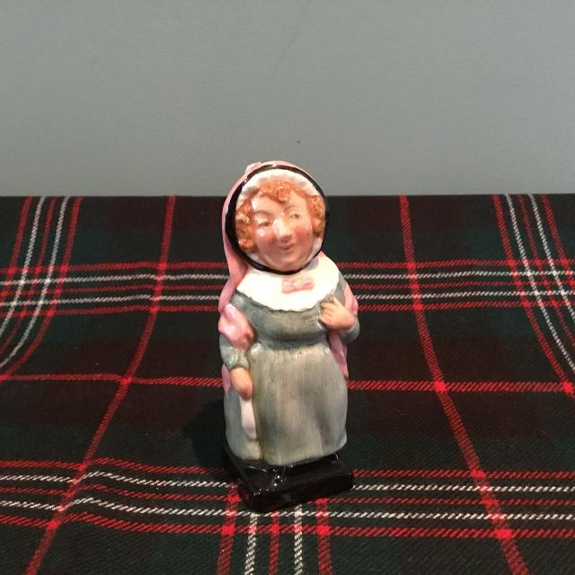 """Royal Doulton Dickens miniature figurine """"Mrs Bardell""""  MOVING SALE 20 %  OFF THE LISTED PRICE"""