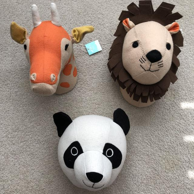 Pillowfort Stuffed Animal Head Kid Wall Decor Nursery Panda