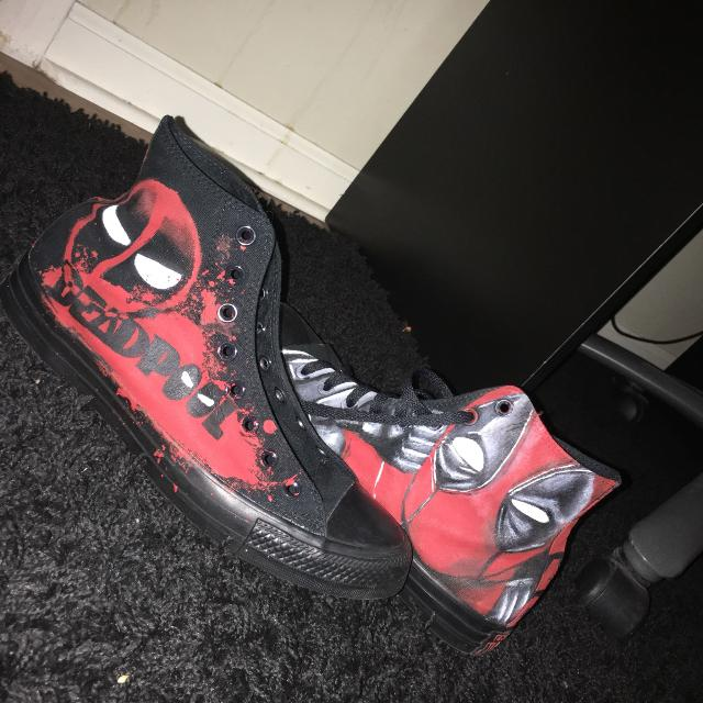 111f5317870 Best Self-painted Deadpool Converse/never Worn/excellent Condition. for sale  in Brazoria County, Texas for 2019