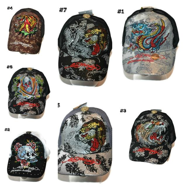 Find more Ed Hardy Trucker Hats With Rhinestones ~ New ~ for sale at ... 10a0262fa0b