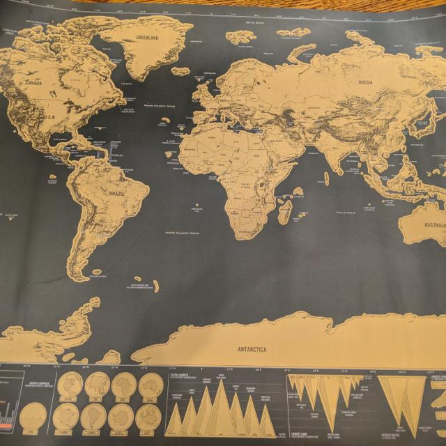 Best Scratch World Map For Sale In Markham Ontario For 2019