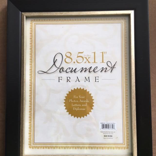 "Best 8.5"" X 11"" Document/certificate Frame. Never Been Used. for ..."
