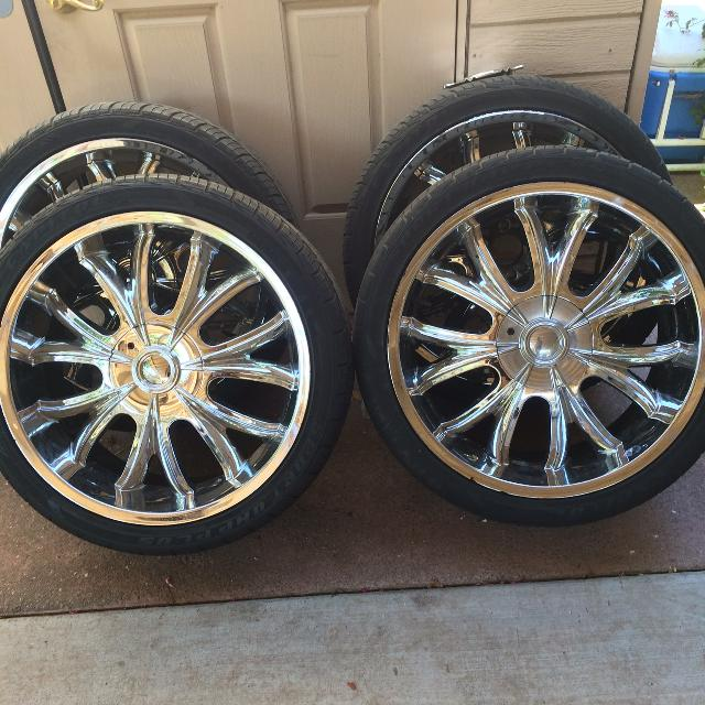 22 Inch Tires >> Clean 22 Inch Rims For Sale