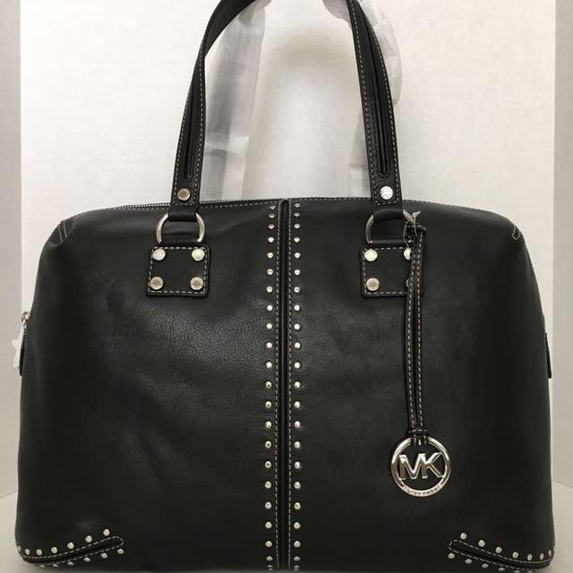 b8b93c73e6e Retail tag $578 New Authentic Michael Kors - Astor Large Leather WEEKENDER  -Black