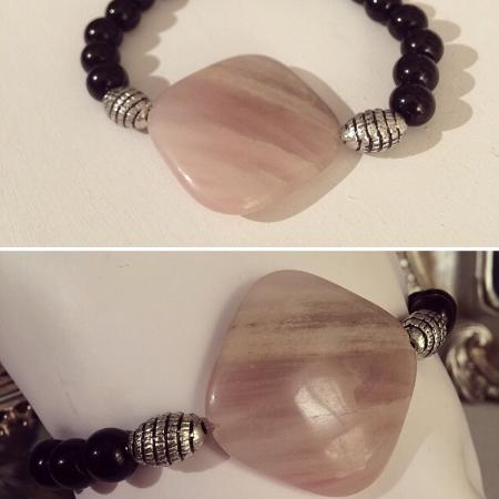 Used, Rose quartz bead bracelet. One size... for sale  Canada