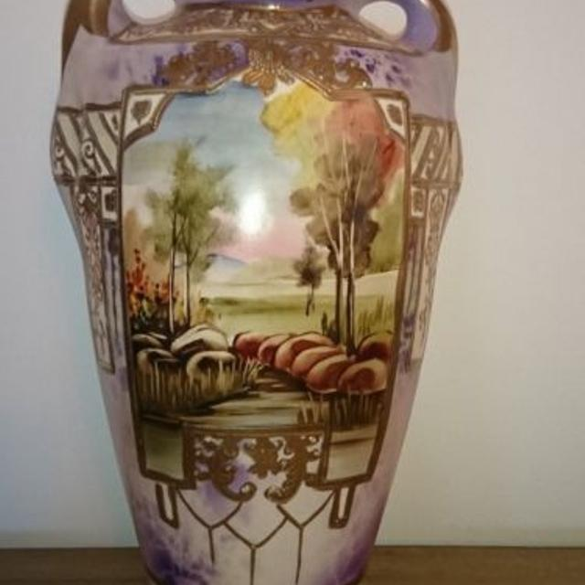 Find More Antique Nippon Moriage Large Vase For Sale At Up To 90 Off