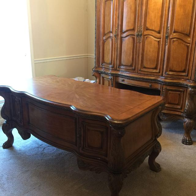 Best Aico Desk And Credenza Furniture Ornate Clawfoot For Sale In