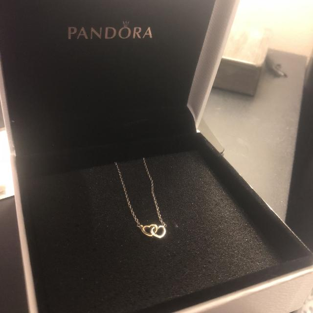 3eb407124 Find more Pandora Double Heart Necklace for sale at up to 90% off