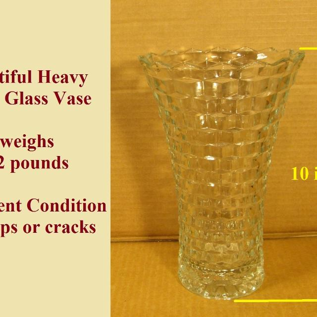 Best Heavy Thick Glass Vase For Sale In Morton Illinois For 2018