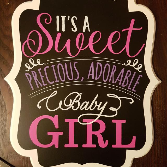 find more its a girl announcement sign mint condition for sale
