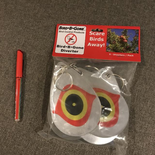Bird B Gone Diverters Keep Birds Away From Your Fruit Trees