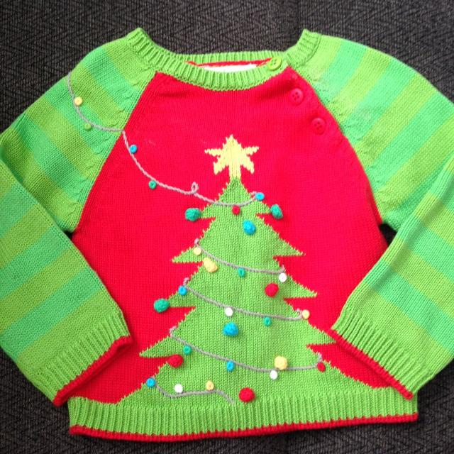 12 month zubels hand knit christmas sweater