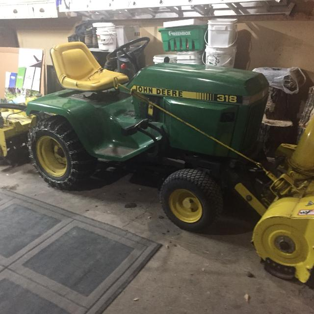 John Deere 318 >> John Deere 318 With 419hrs With Snowblower And Rototiller