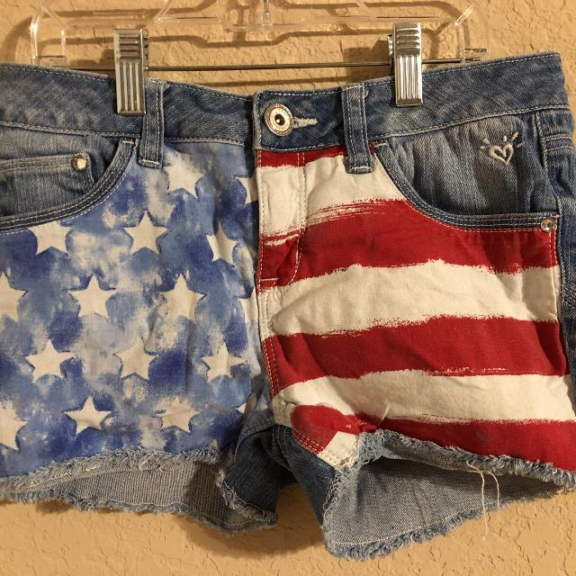 394cb0cba1f66 Find more Justice Brand American Flag Blue Jean Shorts. Very Nice ...