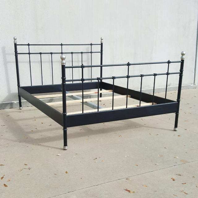 Find more Ikea Svelvik Ornate Metal Queen Size Bed for sale at up to ...