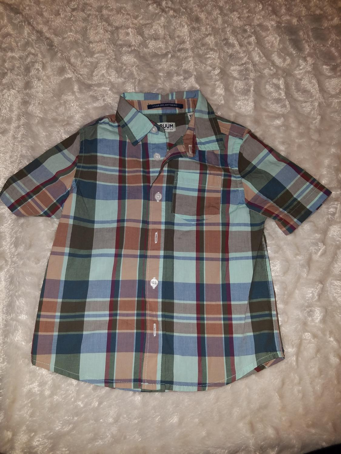 0218de0cadc5 Best Nwt Ruum American Kids Wear Plaid Shirt Boys 2y/2t for sale in Queens,  New York for 2019